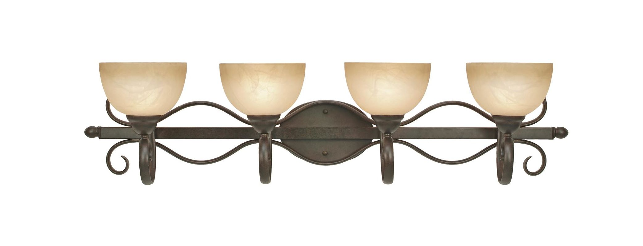 Golden Lighting 1567-BA4 Four Light Bathroom Fixture from the Riverton