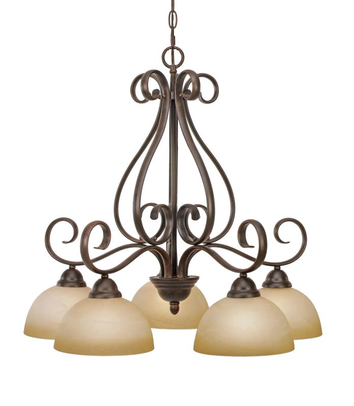 Golden Lighting 1567-D5 Five Light Chandelier from the Riverton Sale $259.00 ITEM: bci640153 ID#:1567-D5 PC UPC: 844375000834 :