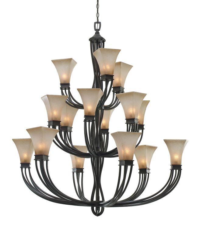 Golden Lighting 1850-15L Genesis 15 Light Chandelier Roan Timber