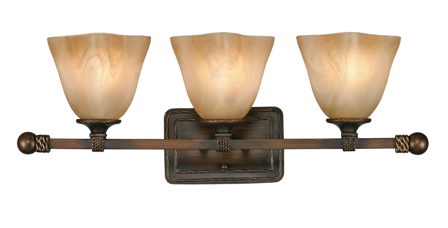 Golden Lighting 3890-BA3 Three Light Bathroom Fixture from the