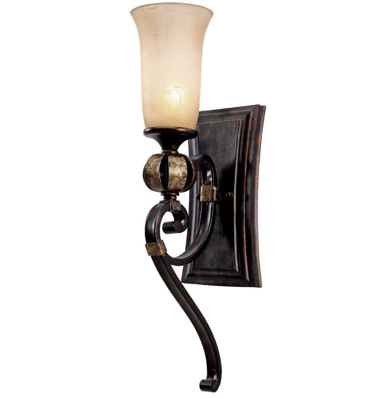 Golden Lighting 3966-BA1 Portland 1 Light Wall Sconce Fired Bronze