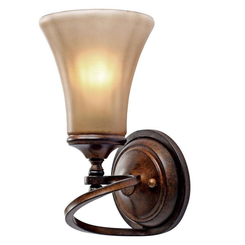Golden Lighting 4002-1W Loretto 1 Light Wall Sconce Russet Bronze