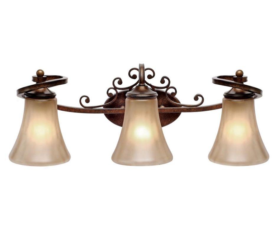 Golden Lighting 4002-BA3 Loretto 3 Light Vanity Russet Bronze Indoor