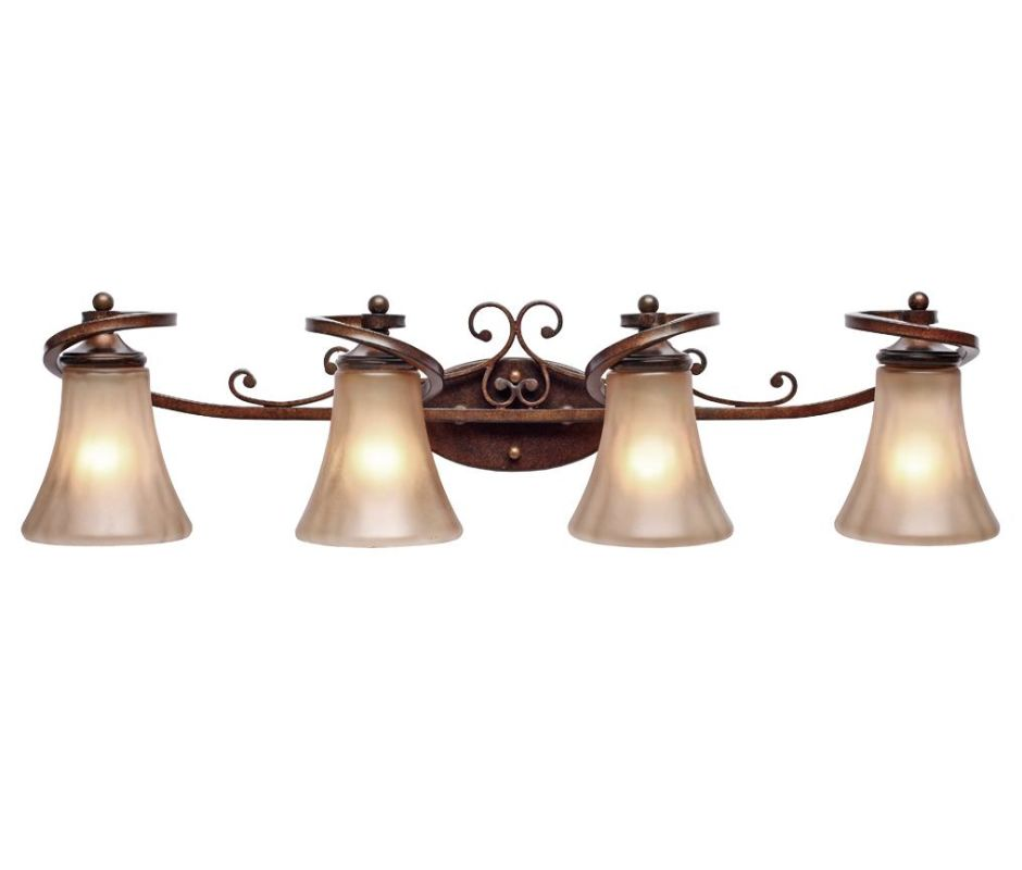 Golden Lighting 4002-BA4 Loretto 4 Light Vanity Russet Bronze Indoor