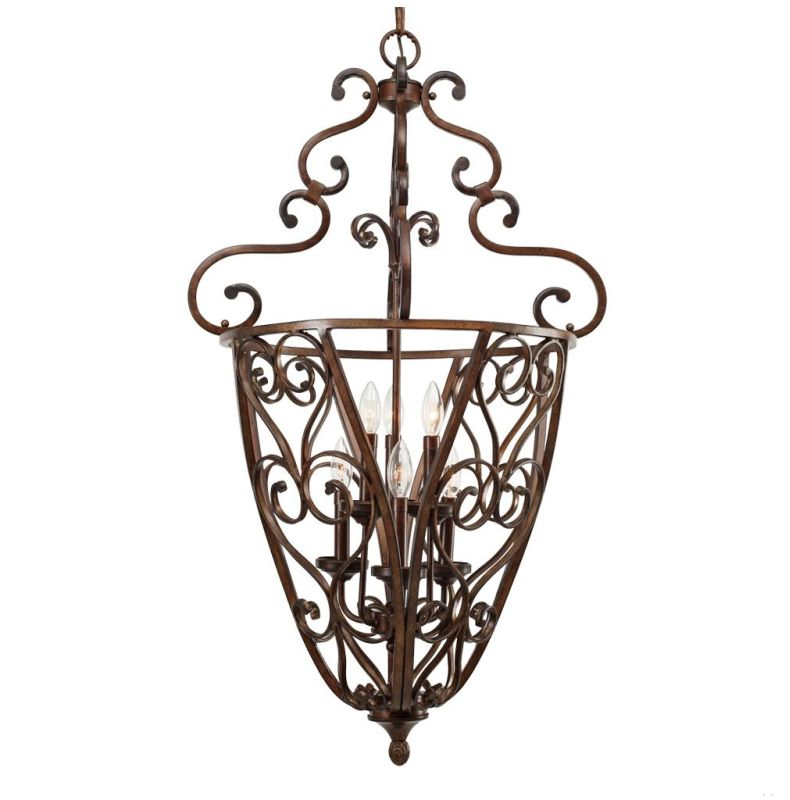 Golden Lighting 4002-CG6 Loretto Caged Foyer Russet Bronze Indoor Sale $699.00 ITEM: bci880530 ID#:4002-CG6 RSB :