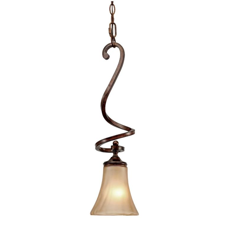 Golden Lighting 4002-M1L Loretto Mini Pendant Russet Bronze Indoor