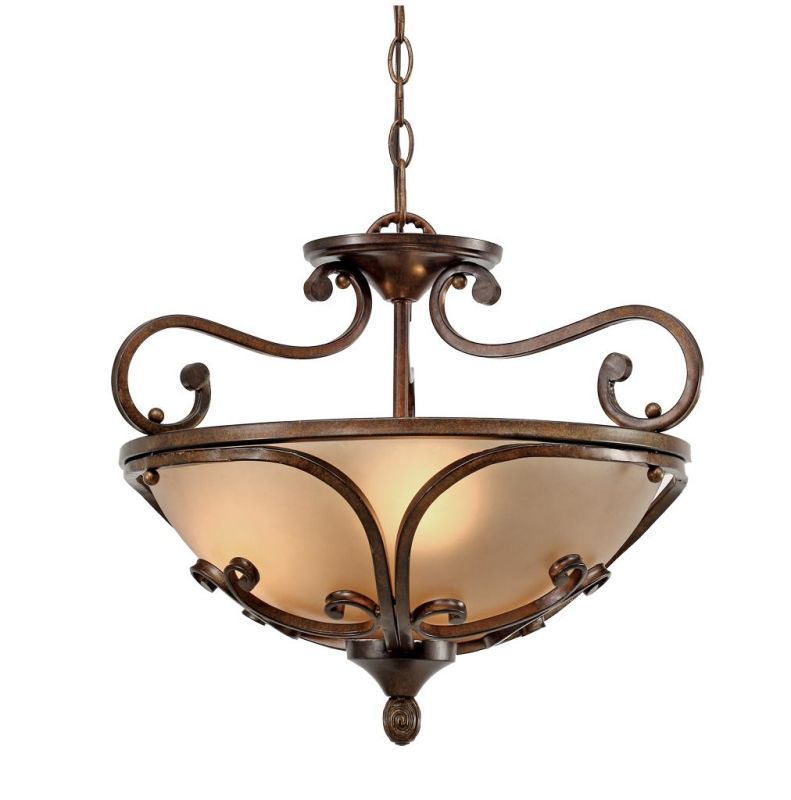 Golden Lighting 4002-SF Loretto Convertible Semi-Flush Russet Bronze