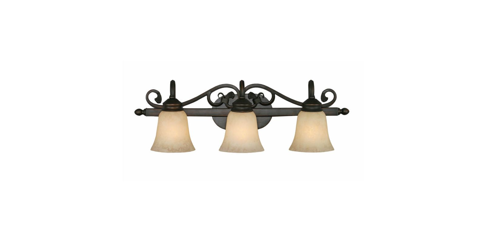Golden Lighting 4074-3 Belle Meade 3 Light Bathroom Vanity Light