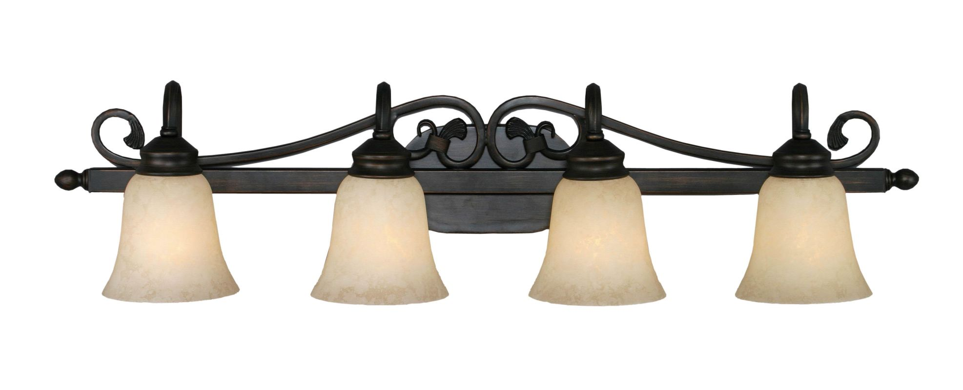 Golden Lighting 4074-4 Belle Meade 4 Light Bathroom Vanity Light