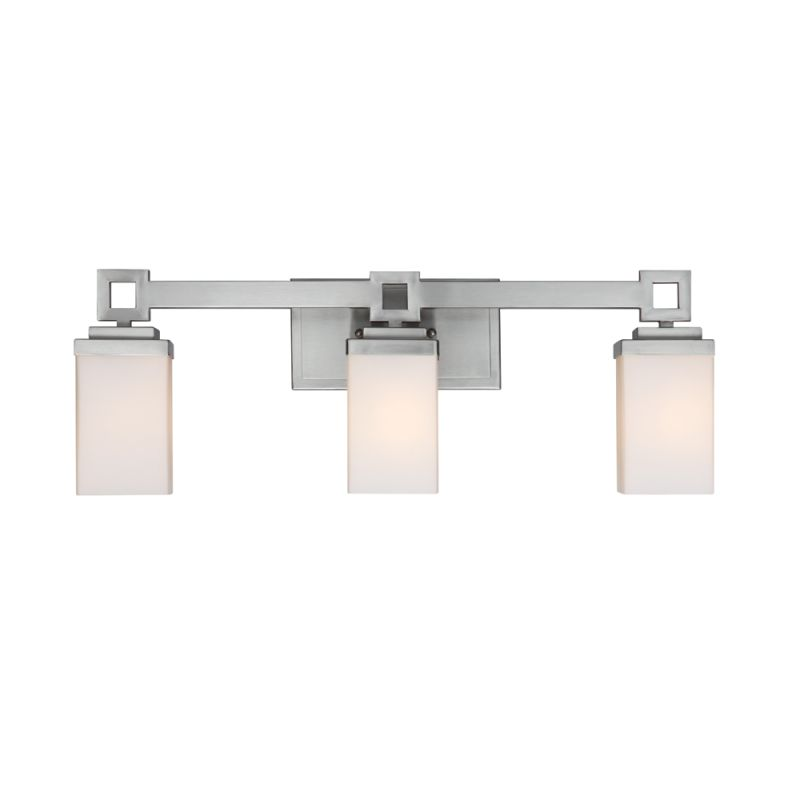 Golden Lighting 4444-BA3 PW Pewter Contemporary Nelio Bathroom Light