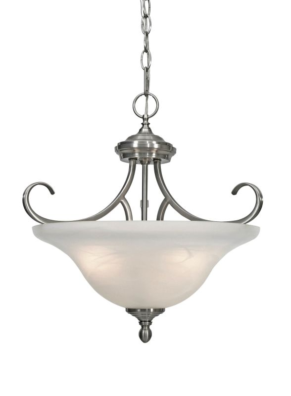 Golden Lighting 6005 Sf Pw Pewter 3 Light Semi Flush Mount