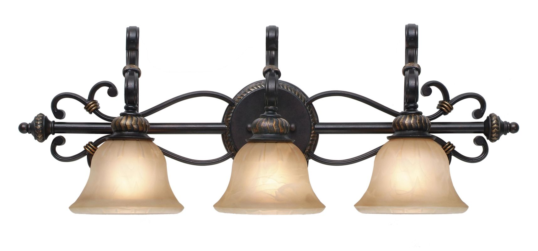 Golden Lighting 6029-BA3 Three Light Bathroom Fixture from the
