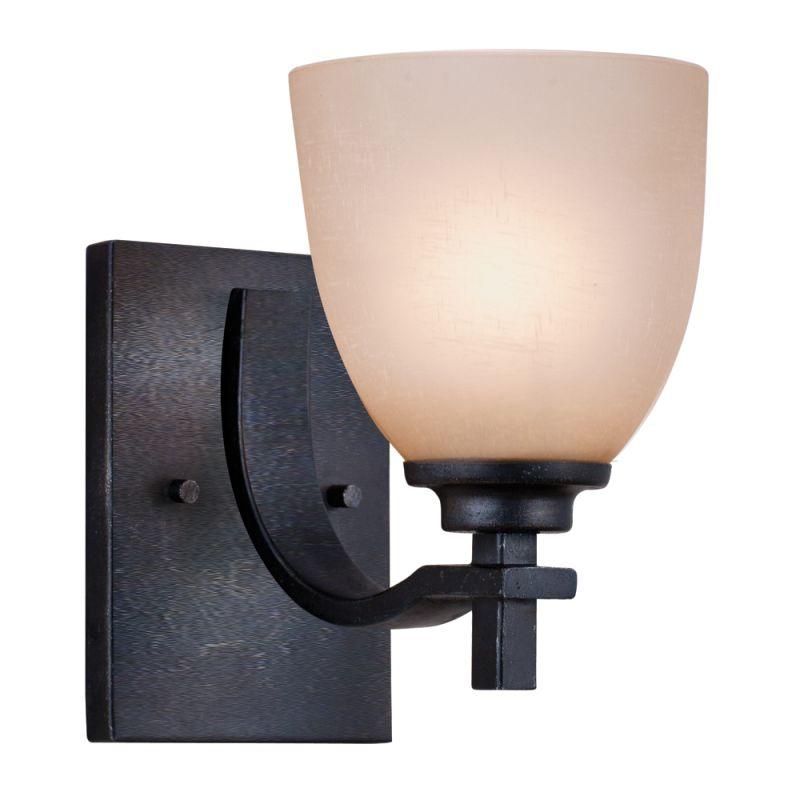 Plug In Wall Lamps Menards : Golden Lighting 6262-BA1 DNI Dark Natural Iron Single Light Wall Sconce from the Hampden ...