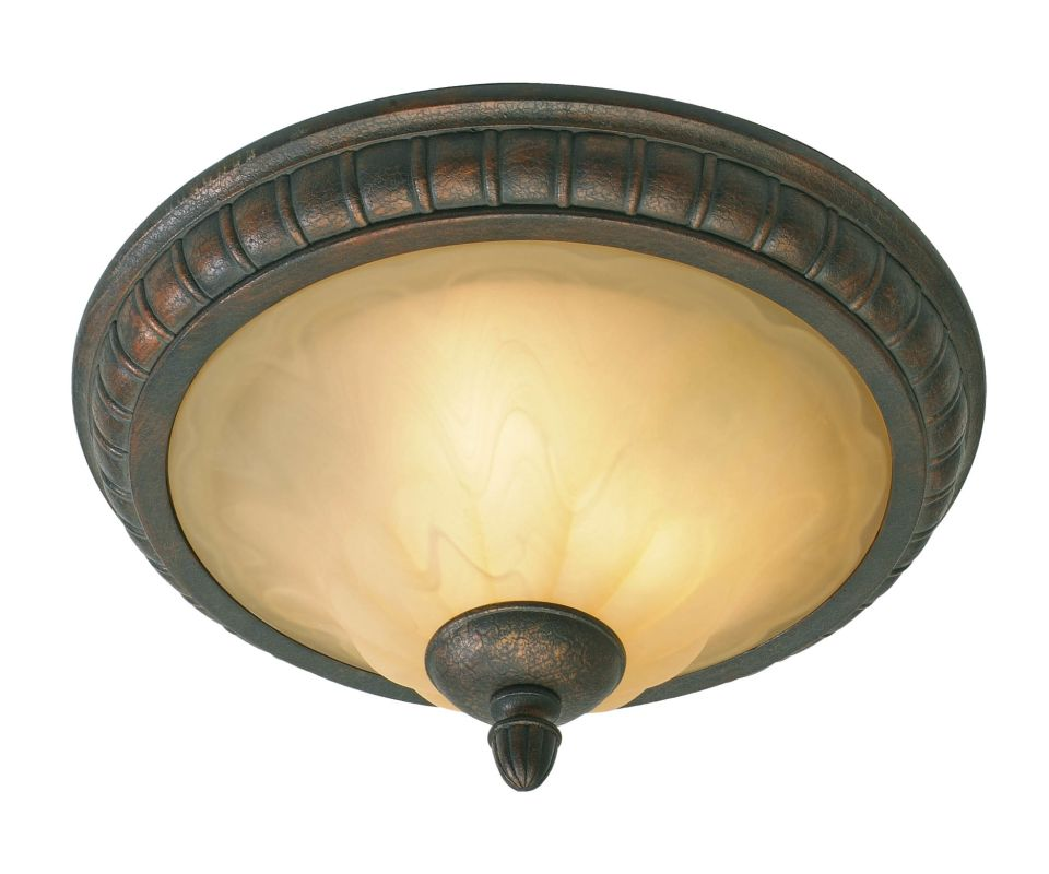 Golden Lighting 7116-17 Two Light Flush Mount Ceiling Fixture from the Sale $109.00 ITEM: bci640497 ID#:7116-17 LC UPC: 844375003767 :
