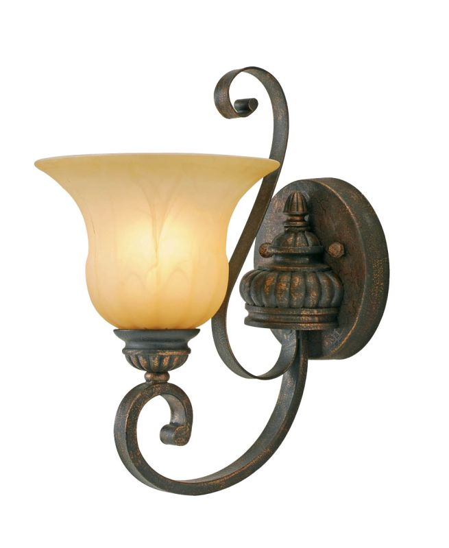 Golden Lighting 7116-1W Single Light Wall Sconce from the Mayfair