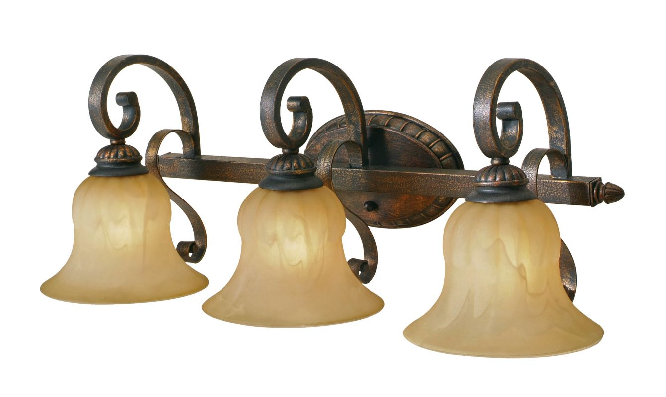 Golden Lighting 7116-BA3 Three Light Bathroom Fixture from the Mayfair