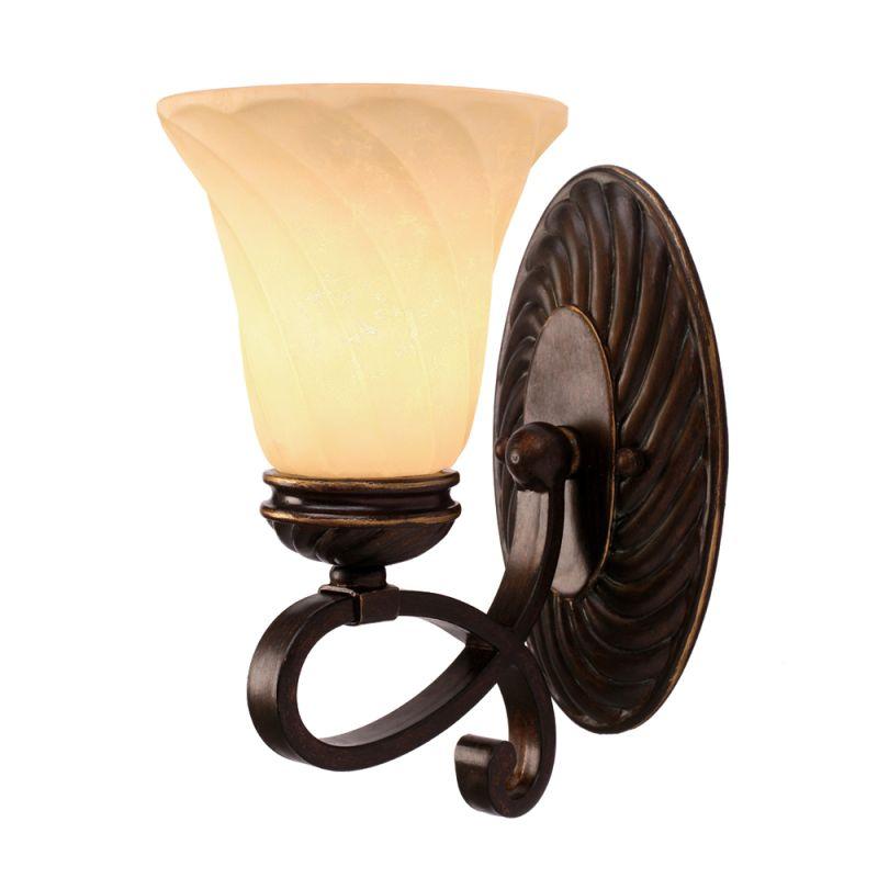 Golden Lighting 8106-BA1 Torbellino 1 Light Bathroom Wall Sconce