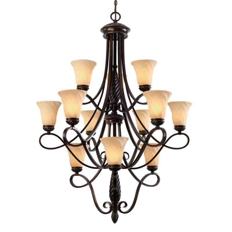 Golden Lighting 8106-363 Torbellino 12 Light Chandelier Cordoban