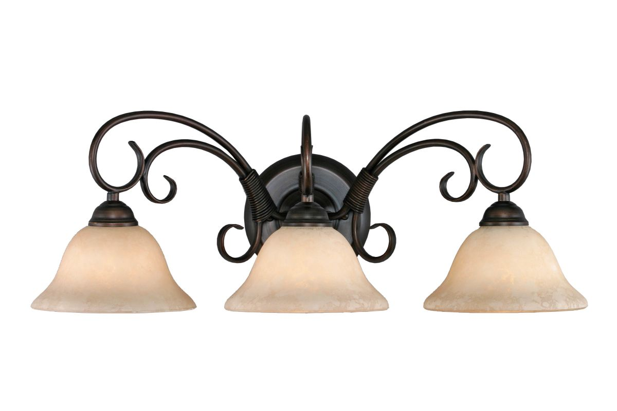 Golden Lighting 8603 Homestead 3 Light Bathroom Vanity Light - 24.25