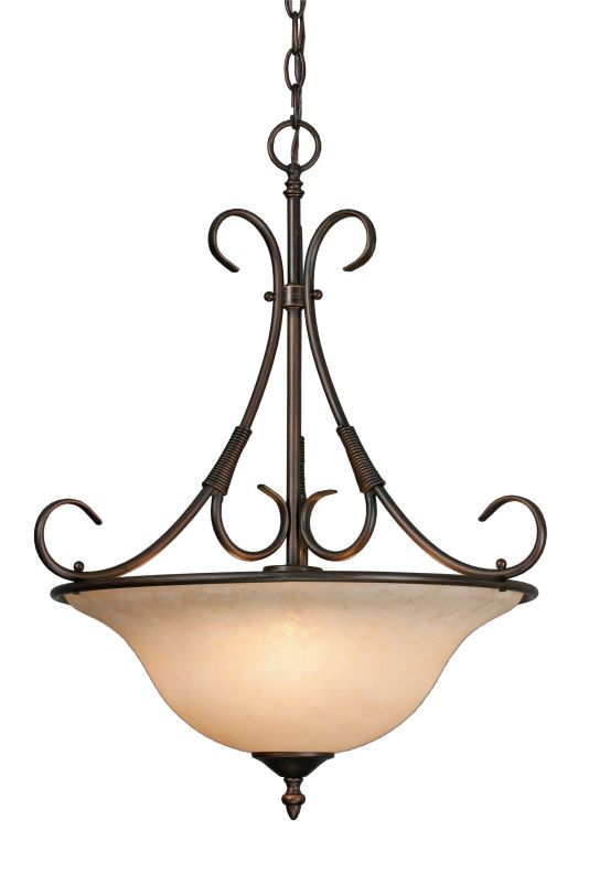 Golden Lighting 8606-3P Single Light Pendant from the Homestead