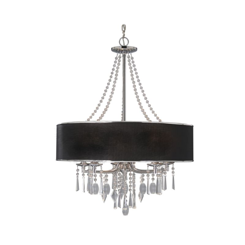Golden Lighting 8981-5 GRM Tuxedo Contemporary Echelon Chandelier