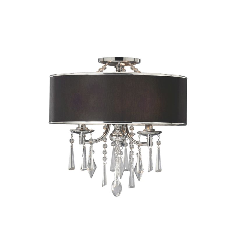 8981 sf grm tuxedo black three light semi flush ceiling fixture