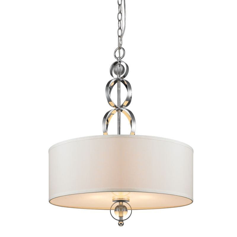 Golden Lighting 1030-3P CH Chrome Contemporary Cerchi Pendant