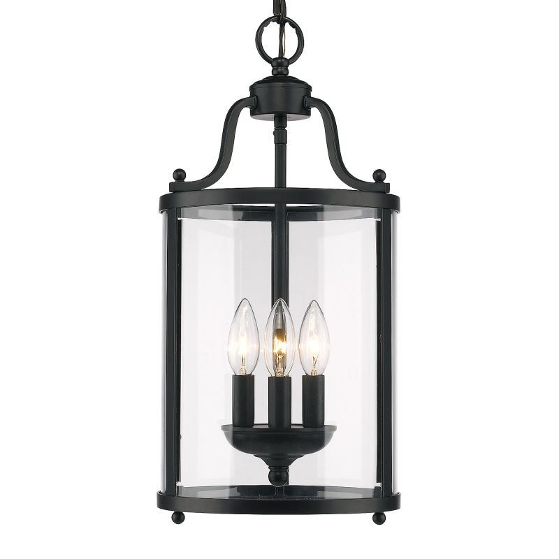 "Golden Lighting 1157-3P 3 Light 9"" Wide Pendant From the Payton"
