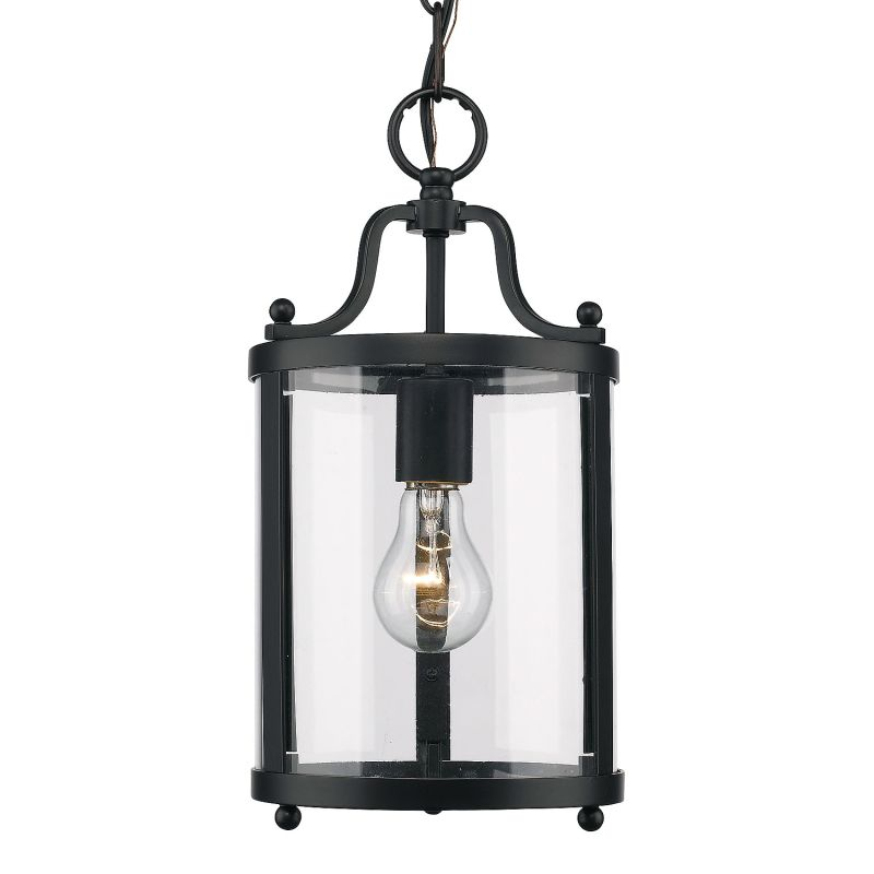 "Golden Lighting 1157-M1L Single Light 8"" Wide Pendant From the Payton"