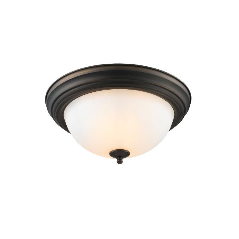 Golden Lighting 1260-13-OP Multi-Family 2 Light 13in Wide Flush Mount
