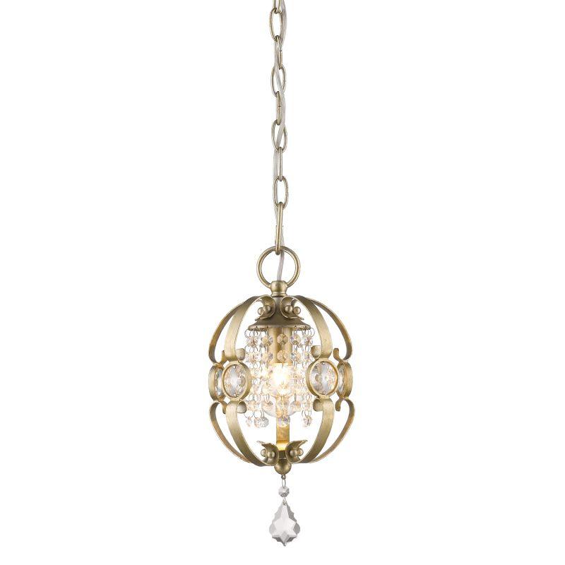 "Golden Lighting 1323-M1L Single Light 7"" Wide Pendant From the Ella"