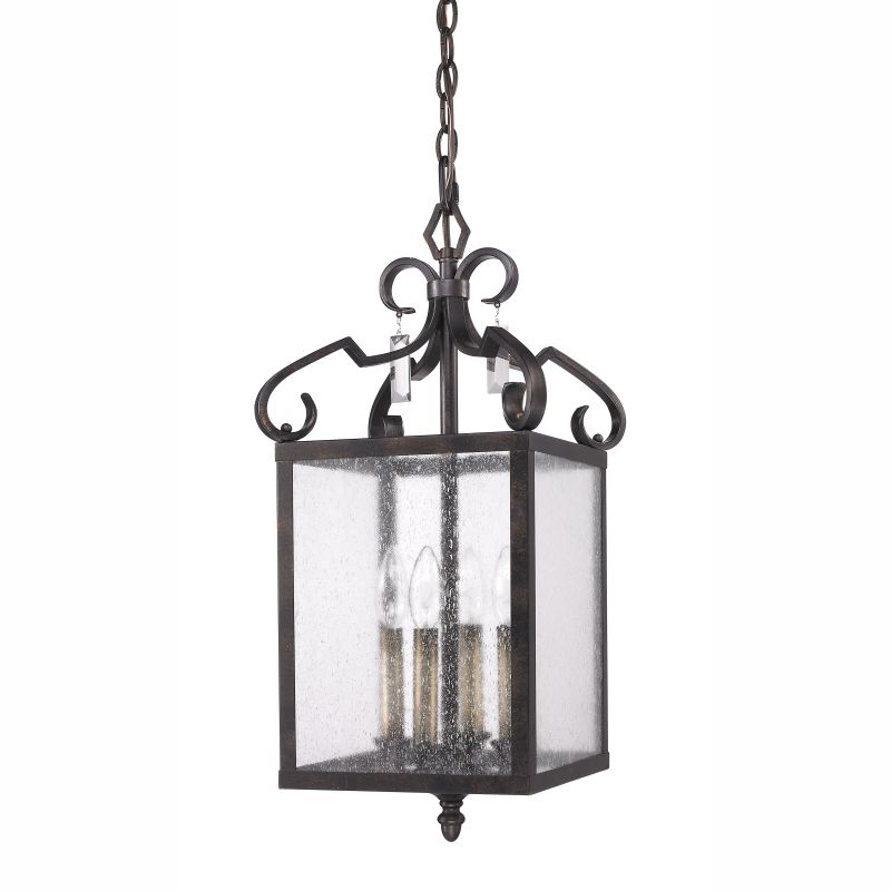 Golden Lighting 2049-4P 4 Light Valencia Foyer Pendant Fired Bronze