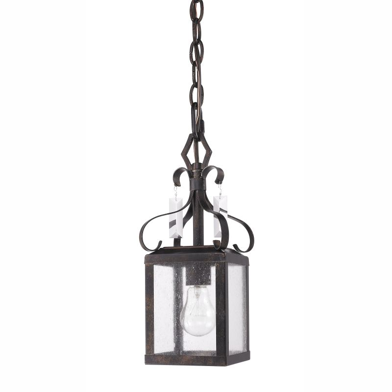 Golden Lighting 2049-M1L 1 Light Mini Pendant from the Valencia