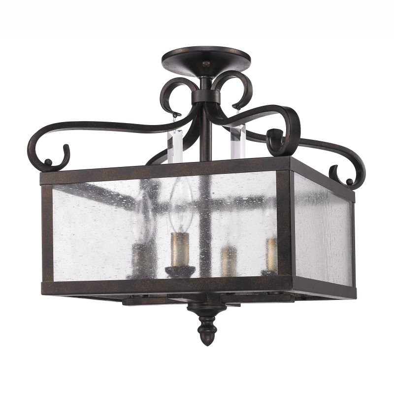 Golden Lighting 2049-SF Valencia Semi-Flush Ceiling Fixture with 4