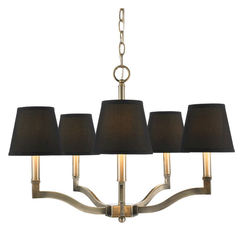 Golden Lighting 3500-5 Waverly 5 Light Single Tier Chandelier Antique