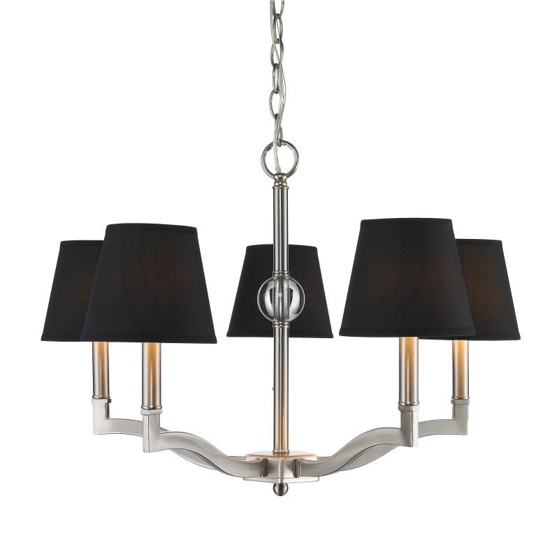 Golden Lighting 3500-5-GRM Waverly 5 Light 1 Tier Chandelier with