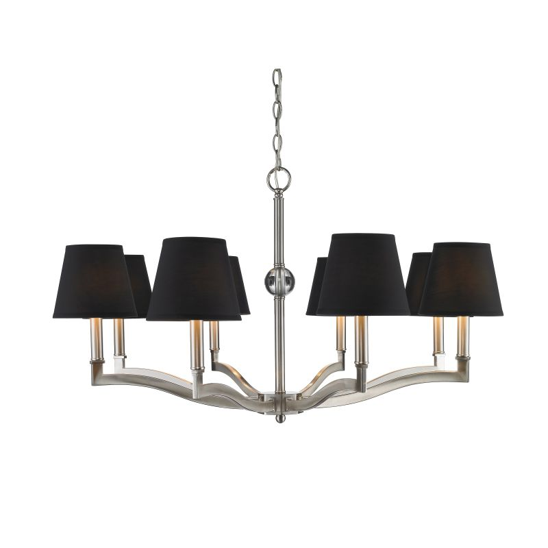 Golden Lighting 3500-8-GRM Waverly 8 Light 1 Tier Chandelier with