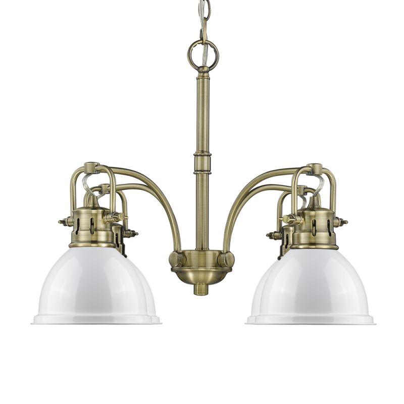 "Golden Lighting 3602-D4 AB Duncan 4 Light 26"" Wide Single Tier"