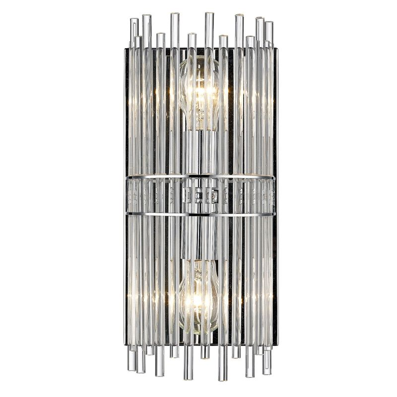"Golden Lighting 4015-BA1 2 Light 7"" Wide Vanity Light From the Luciano"