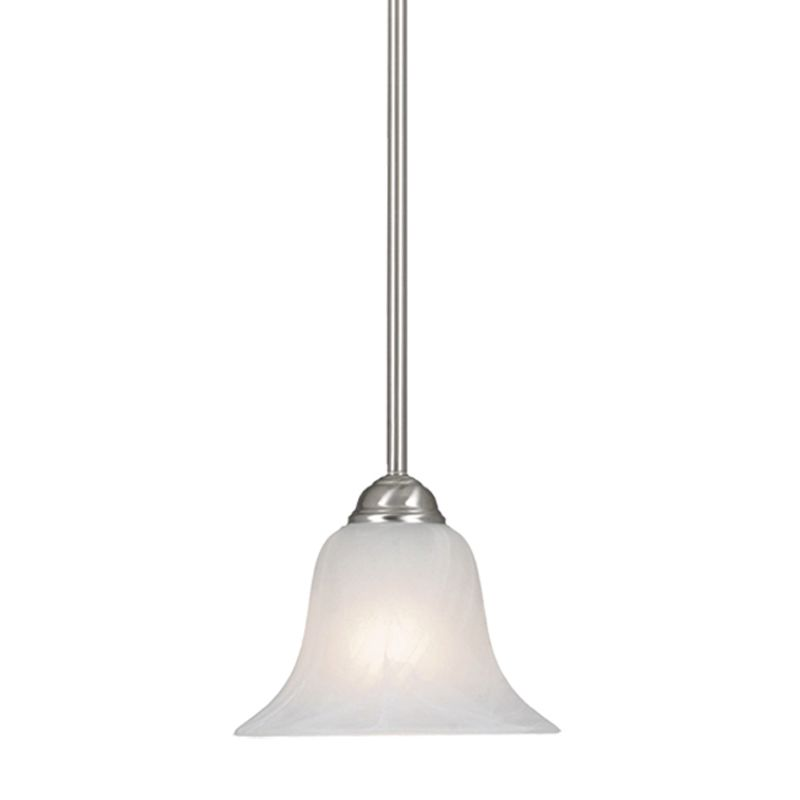 Golden Lighting 4120 Single Light Mini Pendant Pewter Indoor Lighting