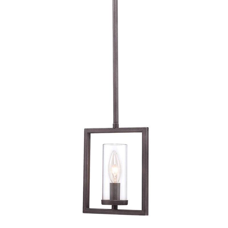Golden Lighting 6068-M1L Gunmetal Bronze Contemporary Marco Pendant