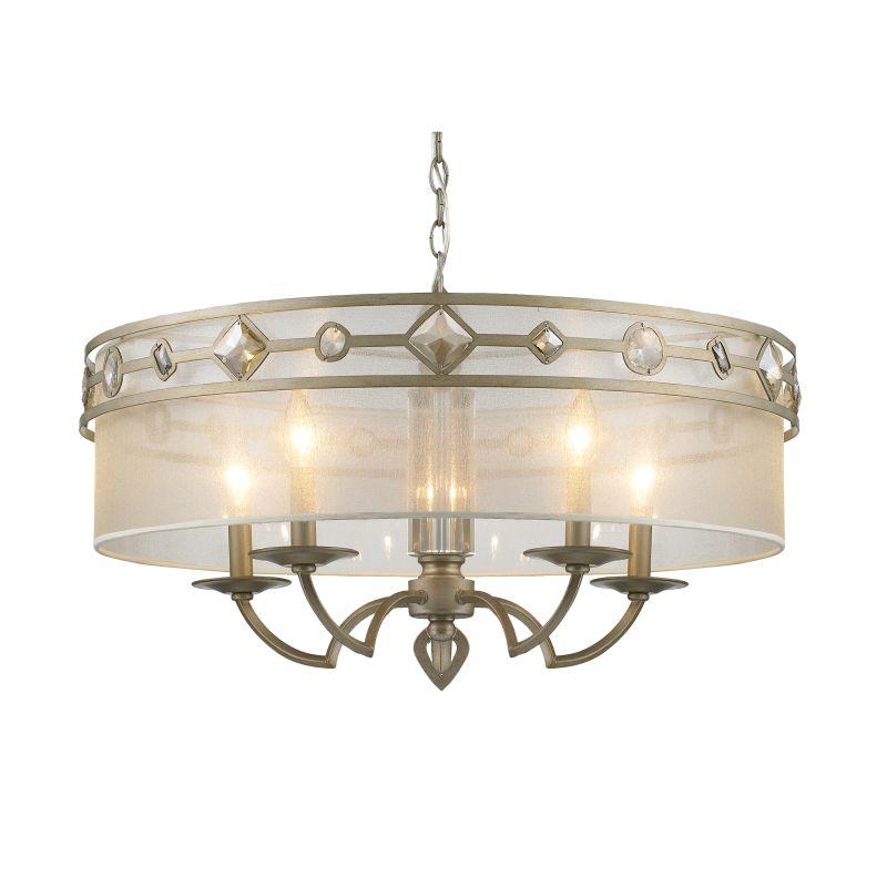 Golden Lighting 6390-5 Coronada 5 Light 1 Tier Chandelier with Gold