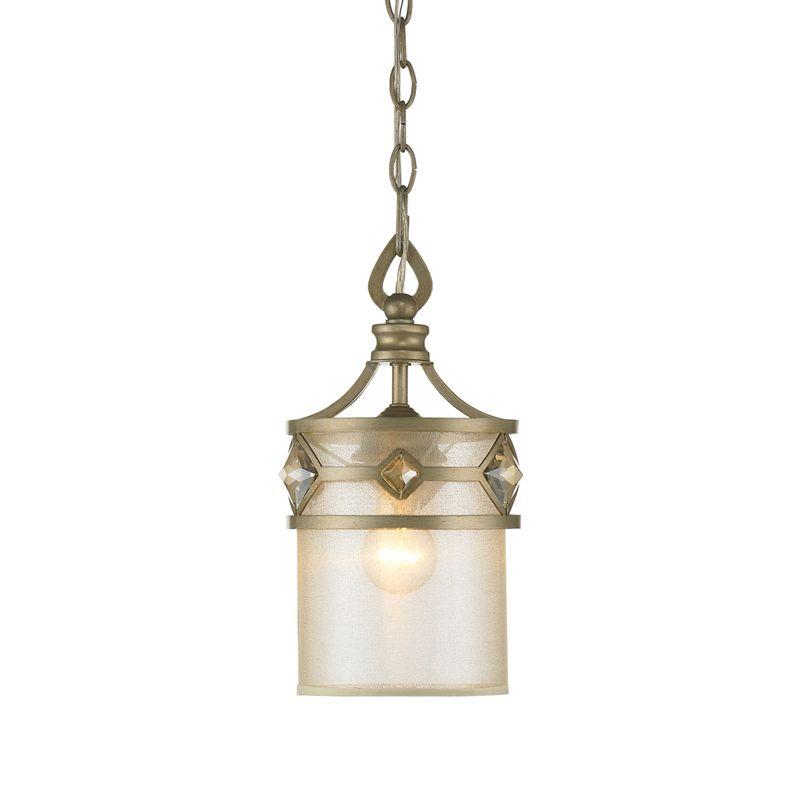Golden Lighting 6390-M1L Coronada 1 Light Mini Pendant with Gold Shade