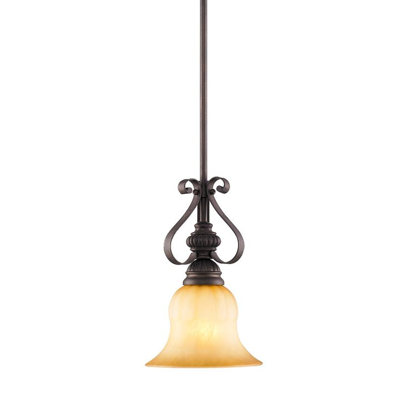 Golden Lighting 7116-M1L Single Light Mini Pendant from the Mayfair