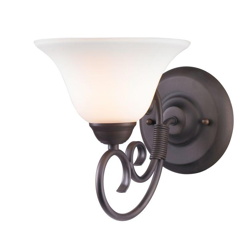 Golden Lighting 8606-BA1-OP Homestead 1 Light Bathroom Sconce with