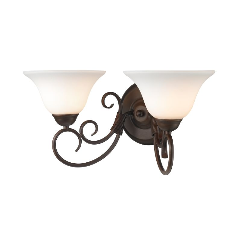 Golden Lighting 8606-BA2-OP Homestead 2 Light Bathroom Vanity Light Sale $79.00 ITEM: bci2341571 ID#:8606-BA2 RBZ-OP UPC: 844375019072 :