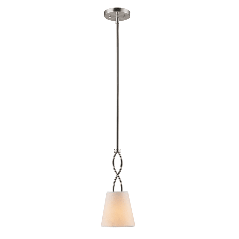 Golden Lighting 9106-M1L Taylor 1 Light Mini Pendant Pewter with Opal