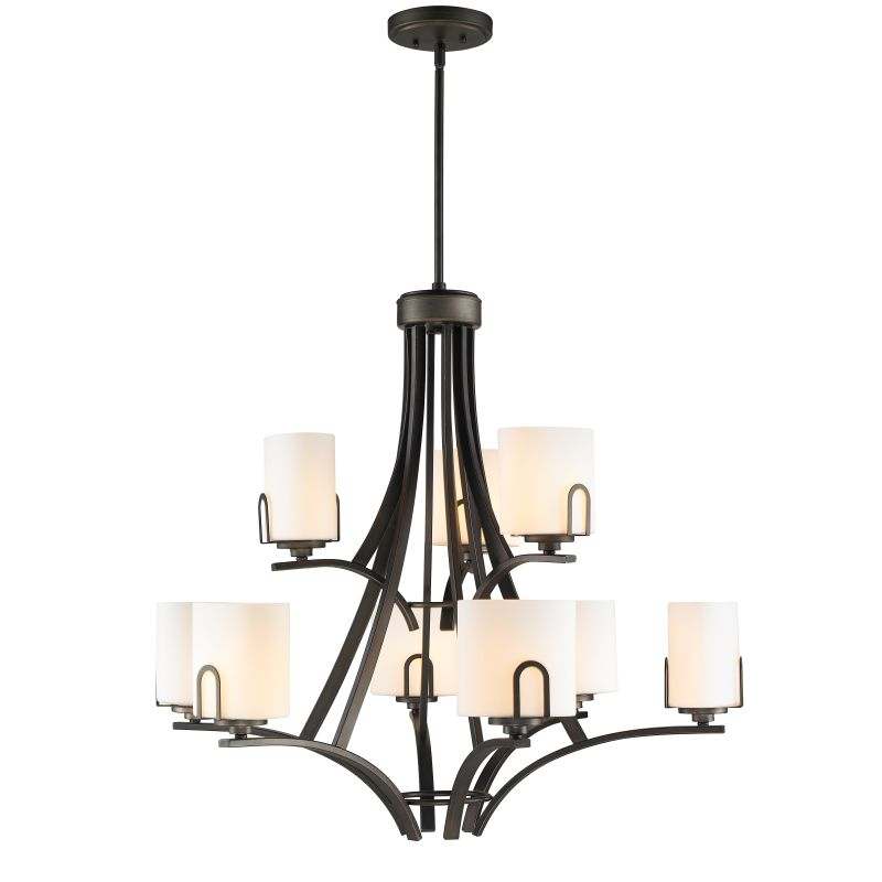 Golden Lighting 9363-9-OP Presilla 9 Light 2 Tier Chandelier with Sale $419.00 ITEM: bci2341580 ID#:9363-9 GMT-OP UPC: 844375019553 :