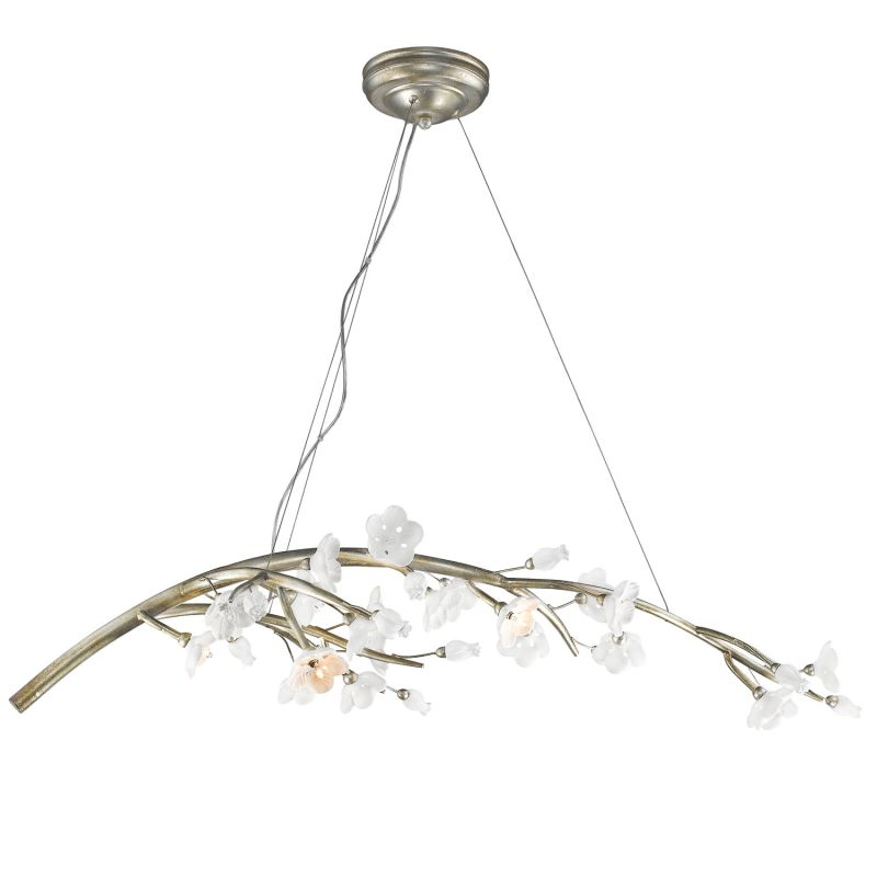 "Golden Lighting 9942-7 Aiyana 7 Light 1 Tier 46.5"" Wide Chandelier"
