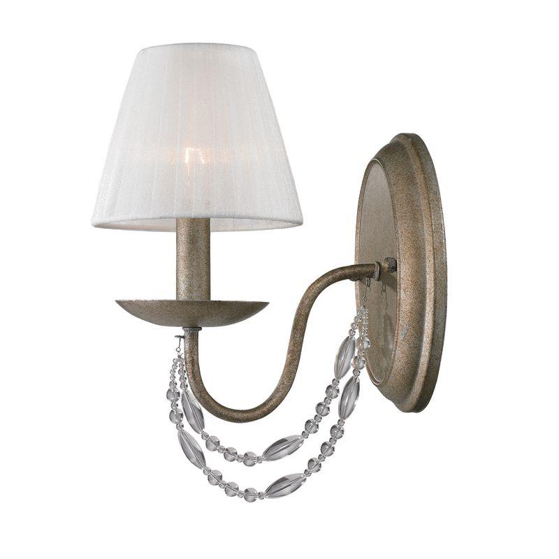Golden Wall Lamps : Golden Lighting 7644-1W GA Golden Aura 1 Light Up Light Wall Sconce from the Mirabella ...